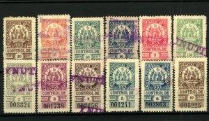Cordoba 1902 Range of Direct Contribution Control Revenues 20c to 10Pesos (12v)