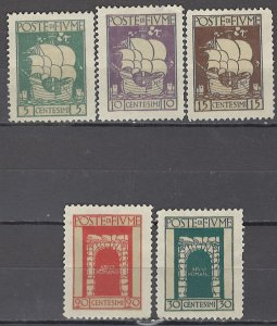 COLLECTION LOT OF #1129 FIUME 5 STAMPS 1923