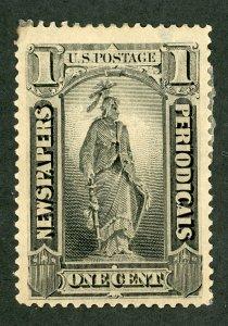 PR 81 Newspaper Stamp.  Unused excessive HR.