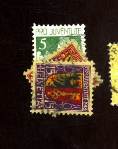SWITZERLAND #B1 B10-11 USED F-VF HR Cat $44