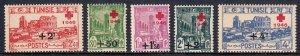Tunisia - Scott #B91-B95 - MNH - Toning - SCV $8.80