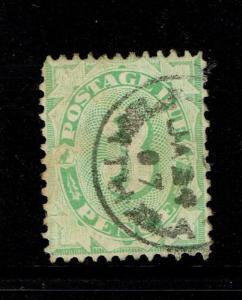 Australia SG# D25w, Used, Hinge Rem, some toning, wmk upright, dull green -S5111