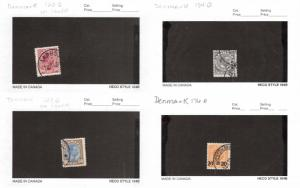 Lot of 36 Denmark Used Stamps Scott Range 120 - 197 #137111 R