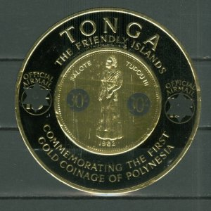 TONGA GOLD COIN #CO8...MINT VERY LIGHT H...$6.75