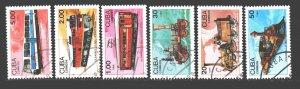 Cuba. 1988. 3221-26. A train. USED.