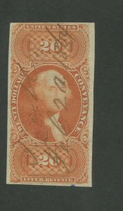 1863 US Conveyance Revenue Stamp #R98a Used Pen Cancel