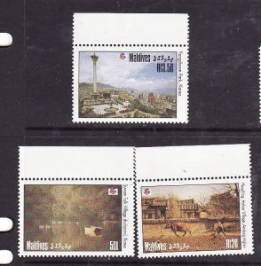 Maldive Is.-Sc#2010-12- id2-Unused NH set-Philakorea-1994-