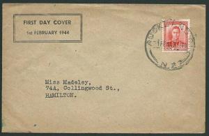 NEW ZEALAND 1944 GVI 1½d Red on commem FDC - ACS cat NZ$75.................40503
