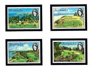 Bermuda 284-87 MNH 1971 Golfing