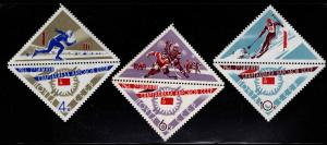 Russia Scott 3176-3178 sports set with labels