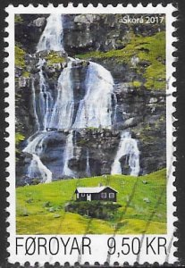 Faroe Islands 672 Used - House Near Skorá River Waterfall