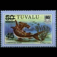 TUVALU 1981 - Scott# 150 Shark Surch. Set of 1 NH