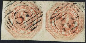 TASMANIA 1853 QV COURIER 4D PAIR USED - REPAIRED