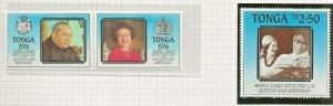 TONGA 1986 60TH BIRTHDAY QUEEN ELIZABETH,ROYAL LINKS SET SG941-943 PERF