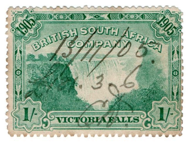 (I.B) Rhodesia/BSAC Revenue : Duty Stamp 1/-