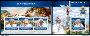 Guinea 2013 pope Francis famous persons nice klb+s/s MNH