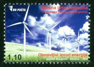 BOSNIA & HERZEGOVINA/2014, Renewed sources of energy (Wind Turbines), MNH