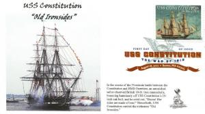 USS Constitution/War of  1812 FDC, w/ DCP cancel,  #1 of 4
