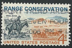 US #1176 4c Range Conservation Issue - The Trail Boss & Modern Range