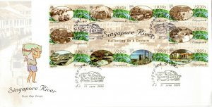 2000 Singapore Rivers First Day Cover