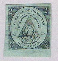 Honduras 1 Used Coat of arms 1865 (BP3084)