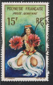FRENCH POLYNESIA 1964 TAHITIAN DANCER