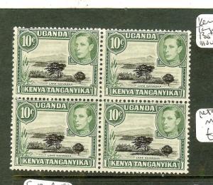 KENYA UGANDA TANGANYIKA (P2306B) KGVI 10C MOUNTAIN RETOUCH SG135+135A IN BL OF 4