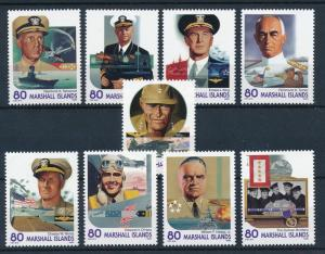 [80940] Marshall Islands 2001  Military heroes of war MNH