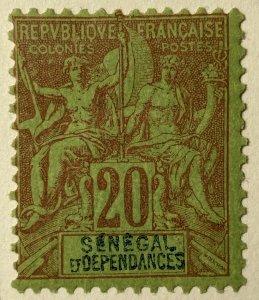 AlexStamps SENEGAL #44 F Mint