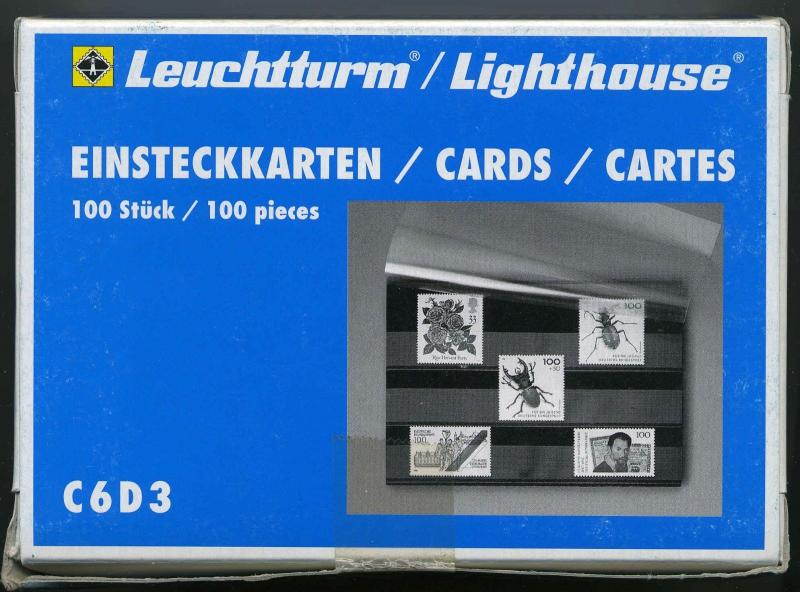 Lighthouse Premium Stock Cards - C6D3 100 cards  3 pocket. Compare at 39.95