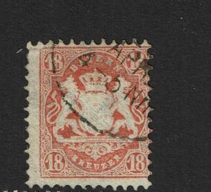 Bavaria SC# 30a, Used, wmk 93 (Noted Mi# 27ya) - S3864