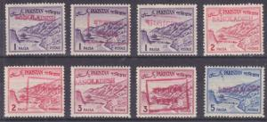 Bangladesh, Pakistan Sc 129/132 MLH. 1961-63 Defins red Bangladesh Local Ovpts