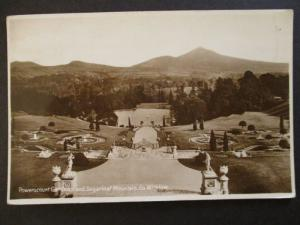 1935 Powerscourt Garden Sugarloaf Mt Wicklow Ireland Real Picture Postcard Cover