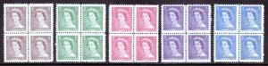 Canada - Scott #325-329 - Block/4 - MH/MNH - Top 2 MH, bottom 2 MNH - SCV $5.60