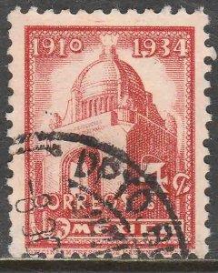 MEXICO 709, 4¢ REVOLUTION MONUMENT 1934 DEFINITIVE SINGLE USED. VF. (526)