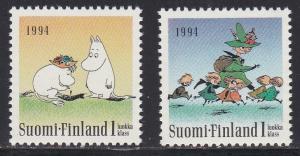 Finland # 931-932, Mooms Characters, NH,1/2 Cat.
