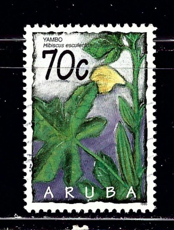 Aruba 124 Used 1995 issue