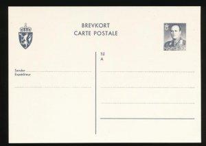 NORWAY Mi. P118 POSTAL STATIONERY POSTAL CARD 55o GRAY