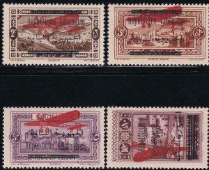 Lebanon 1928 SC C21-C24 Mint Set