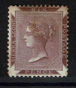 Sierra Leone SG# 35, Mint Hinged, Hinge Remnant, Toned - Lot 031017