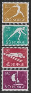 NORWAY SC# 389-92  FVF/MOG 1961