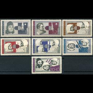 BULGARIA 1966 - Scott# 1521-6+B29 Astronauts Set of 7 NH