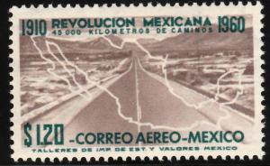 MEXICO C255, $1.20P 50th Anniv Mexican Revolution. MINT, NH. VF..