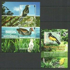 V1012 2009 MONTSERRAT FAUNA BIRDS #1461-65 MICHEL 15,5 EURO KB+BL FIX