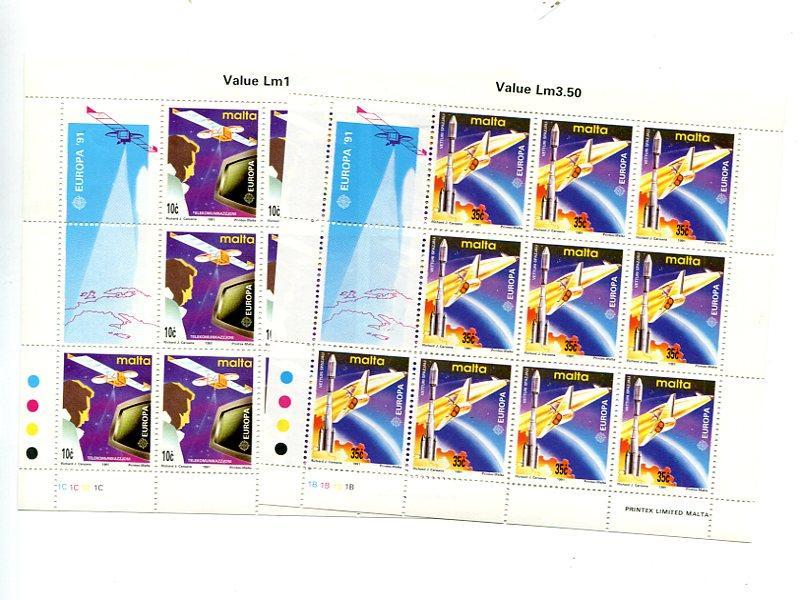 Malta 1991 Europa sheets Mint VF NH - Lakeshore Philatelics