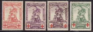 Belgium #B28-30 (4v) F-VF Mint Hinged * and Used Merode Monument (Counterfeits)