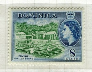 DOMINICA; 1954 early QEII issue fine Mint hinged 8c. value