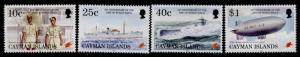 Cayman Islands 704-7 MNH WWII, Submarine, Ship, Airship