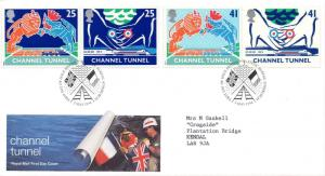 1994 Sg 1820/23 Channel Tunnel Opening First Day Cover