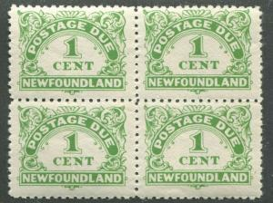 NEWFOUNDLAND J1 MINT BLOCK OF 4 NH